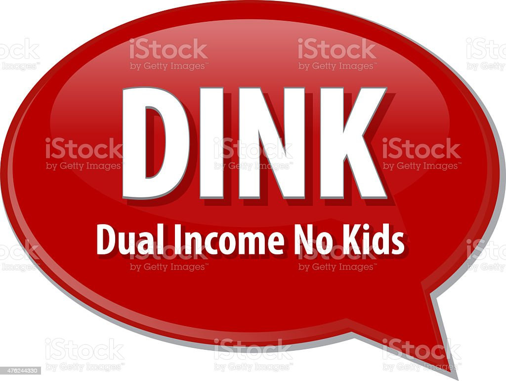 DINK acronym word speech bubble illustration stock photo