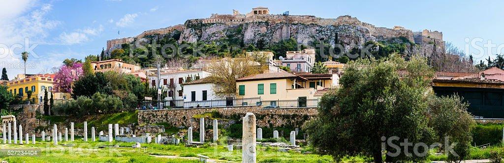 Acropolis- ancient agora panorama stock photo