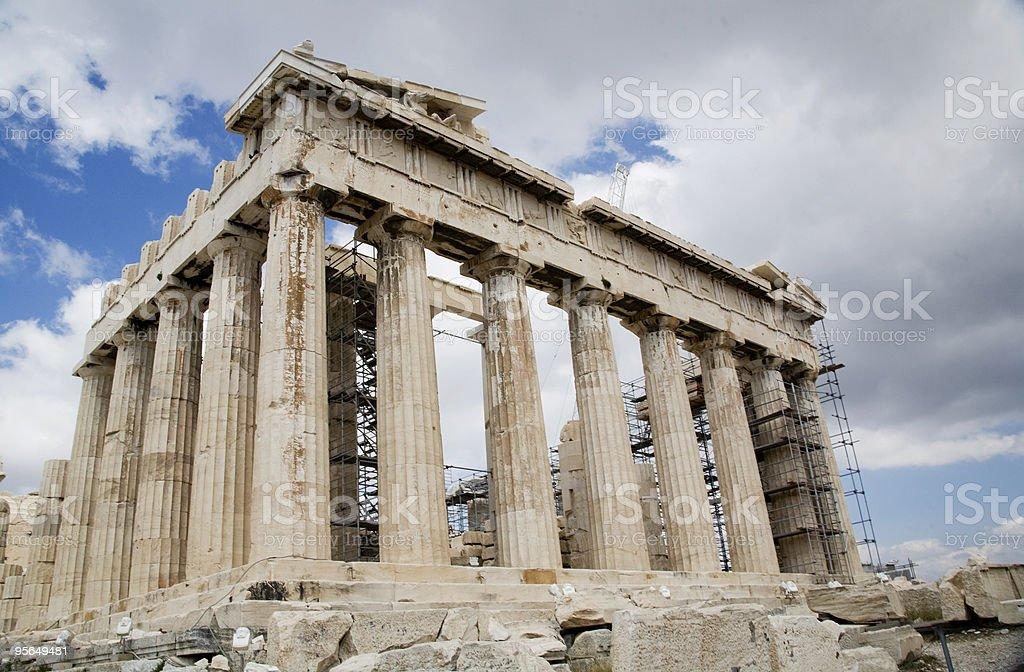 acropolis athens repair royalty-free stock photo
