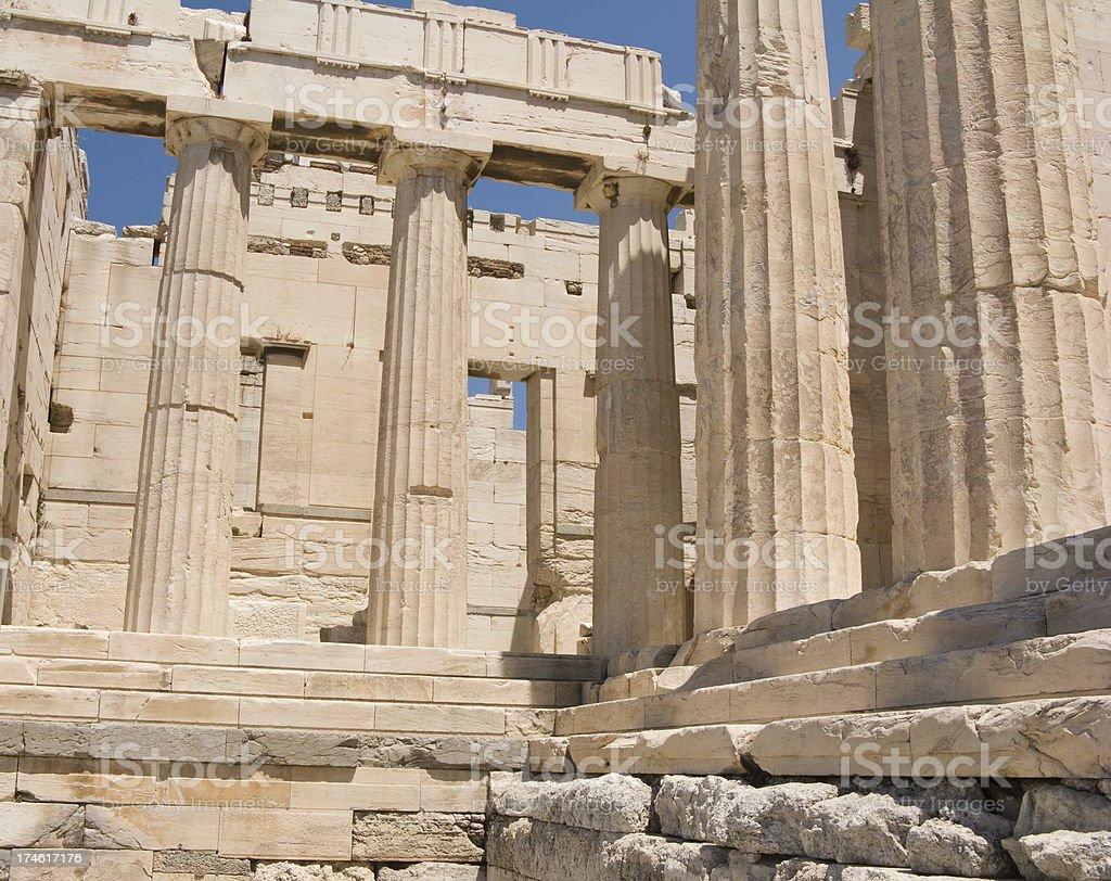 Acropolis Columns & Stairs Horizontal stock photo