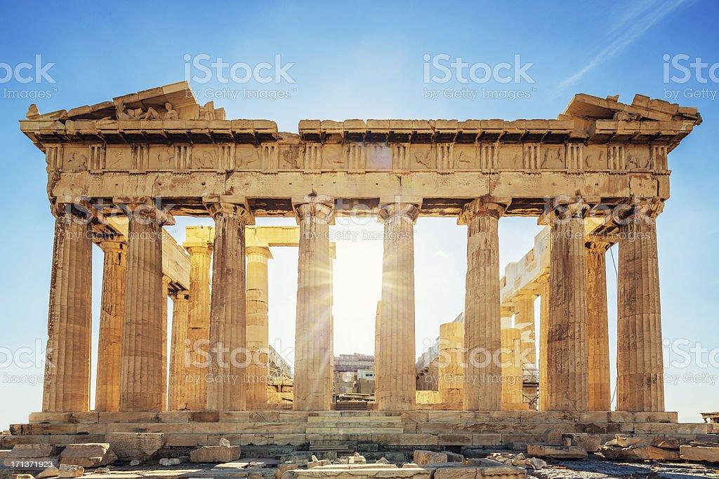 Acropolis Greece Parthenon Temple stock photo