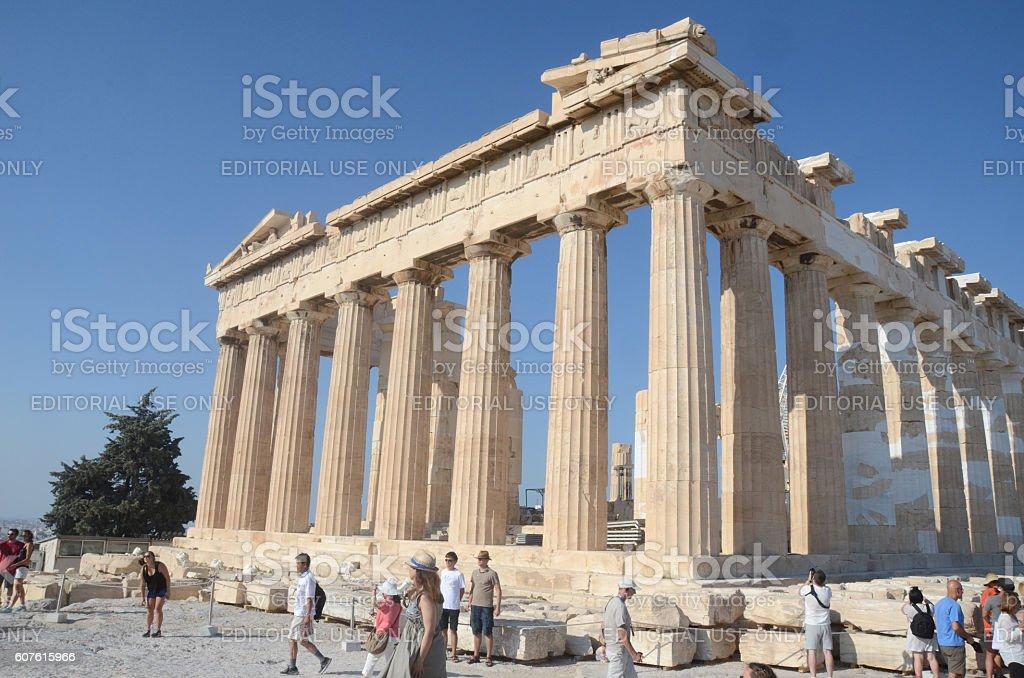Acropolis Hill, Parthenon, Athens, Greece stock photo