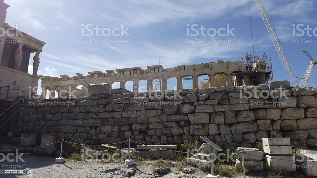 Acropolis in Athens, Greece, behind the scenes. stock photo