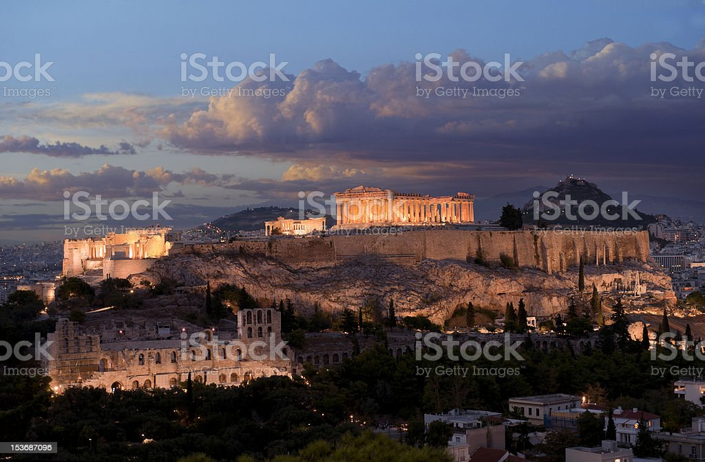Acropolis monument in Greece royalty-free stock photo