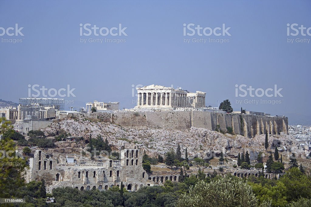 acropolis mountain stock photo