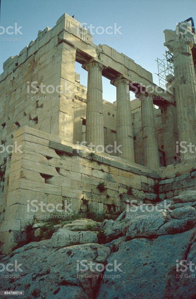 Acropolis, Nike Temple stock photo