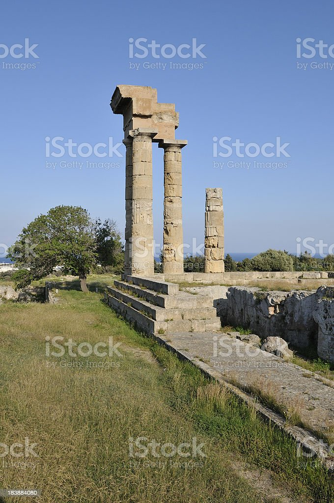 Acropolis of ancient Rhodes royalty-free stock photo
