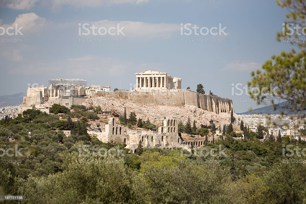 Acropolis of Athens, Greece stock photo