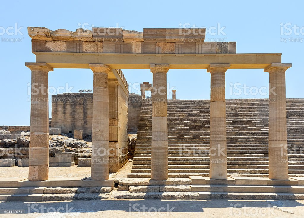 Acropolis of Lindos - Rhodes, Greece stock photo