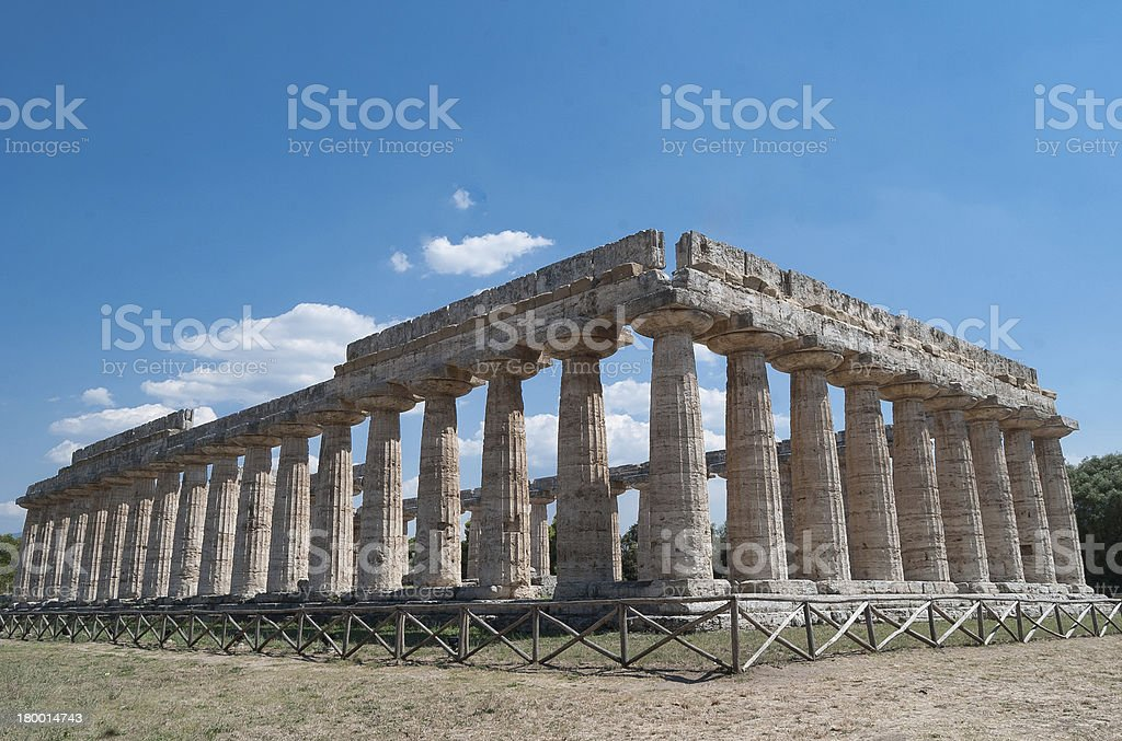 Acropolis of Paestum. stock photo