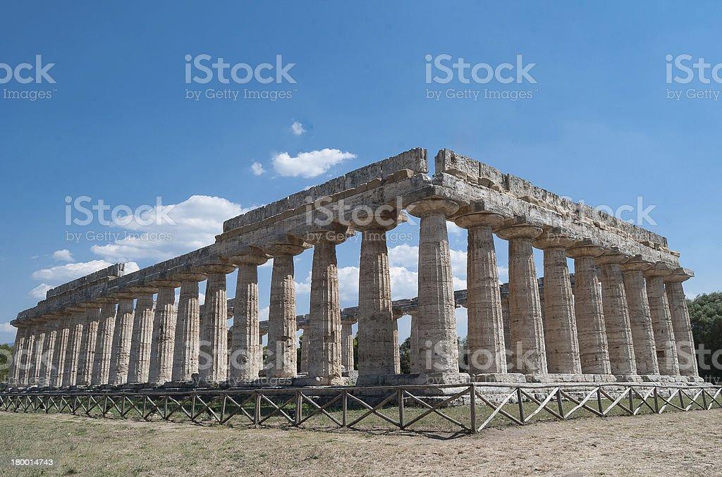 Acropolis of Paestum. stock photo
