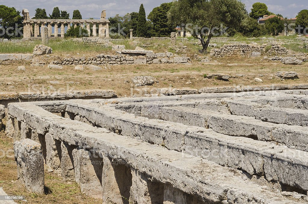 Acropolis of Paestum. royalty-free stock photo