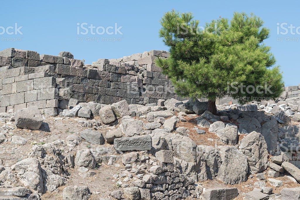 Acropolis of Pergamon or Pergamum , Turkey stock photo