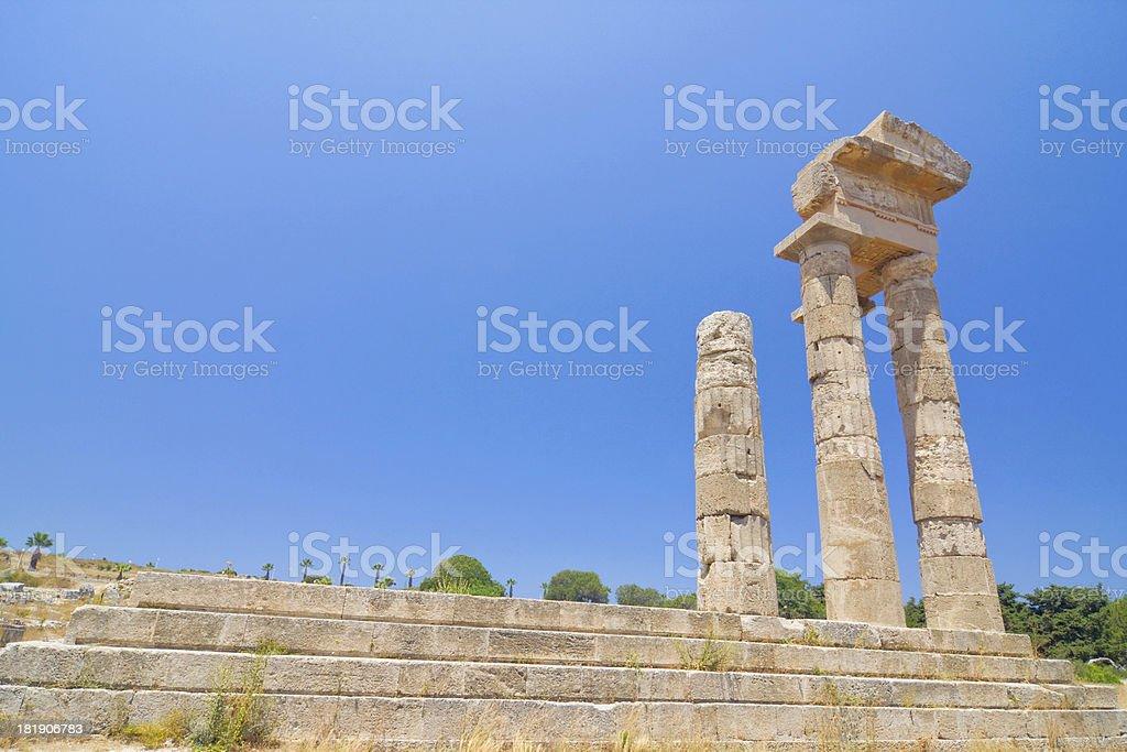Acropolis of Rhodes at Monte Smith royalty-free stock photo