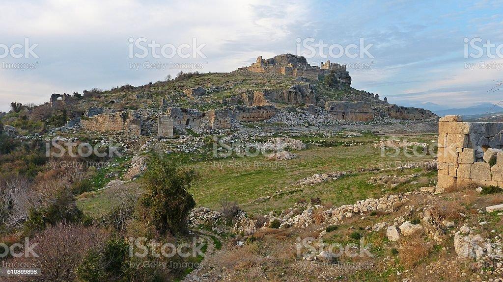Acropolis of Tlos, Turkey stock photo