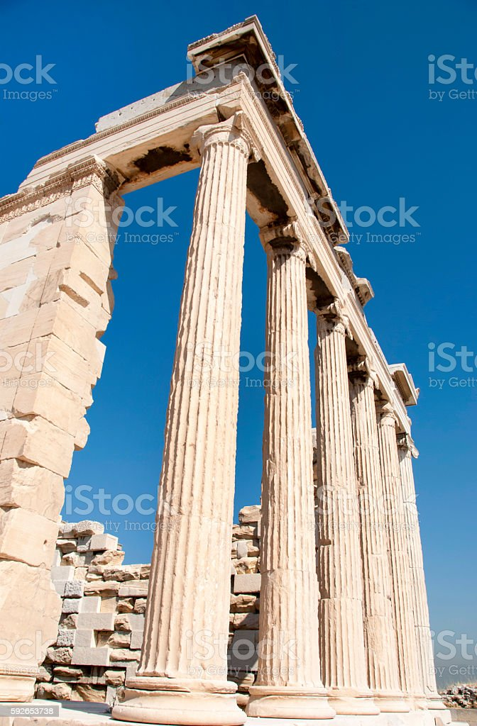 Acropolis Parthenon in Athens, Greece stock photo