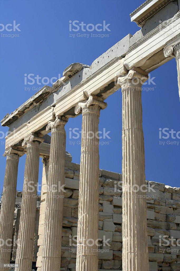 Acropolis, Parthenon temple detail, Athens royalty-free stock photo