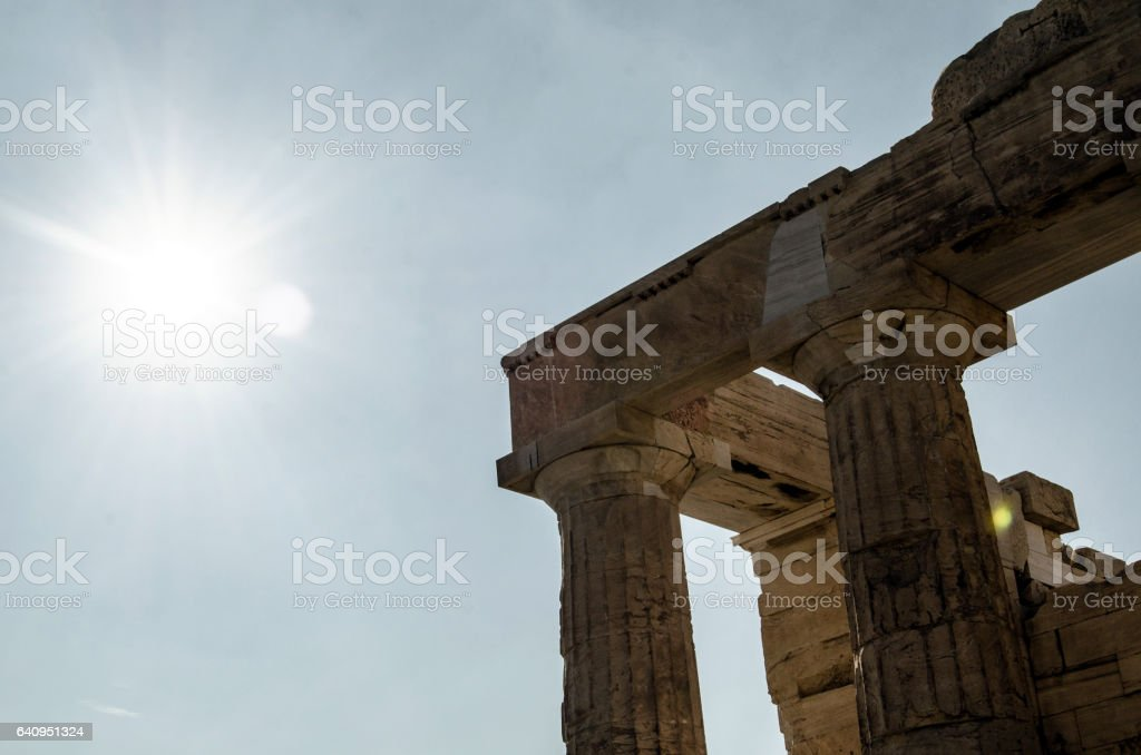 Acropolis (details) stock photo