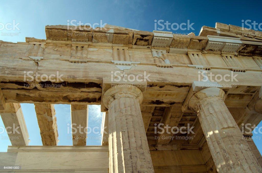 Acropolis (details) stock photo