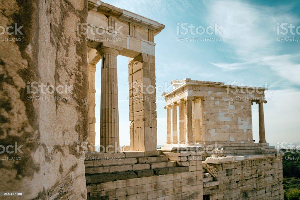 Acropolis Propylaea stock photo