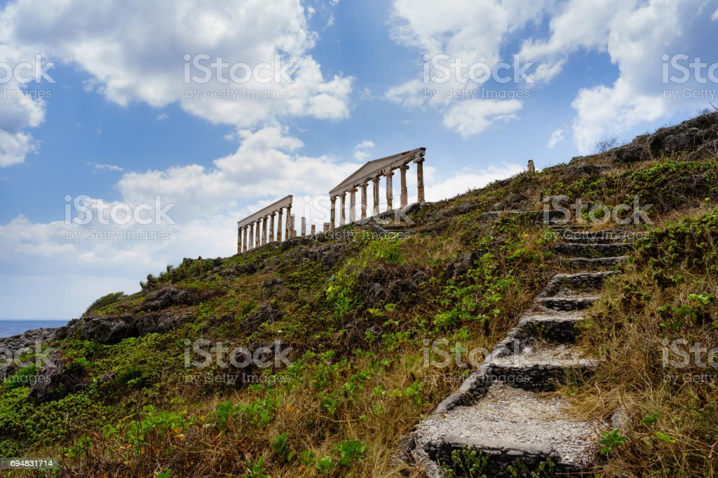 Acropolis replica ruins stock photo
