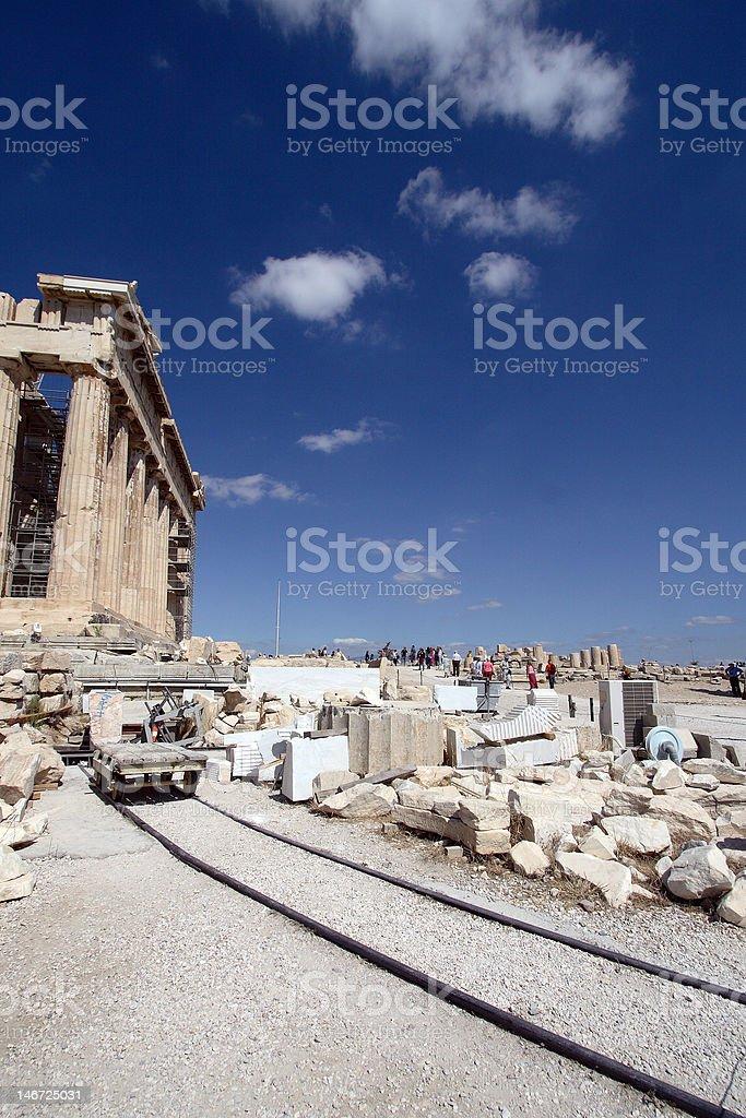 Acropole, les réparations photo libre de droits