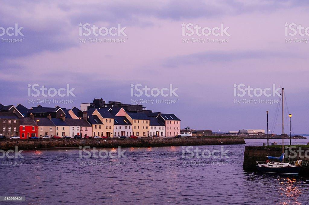 Across Galway Harbour, Ireland stock photo