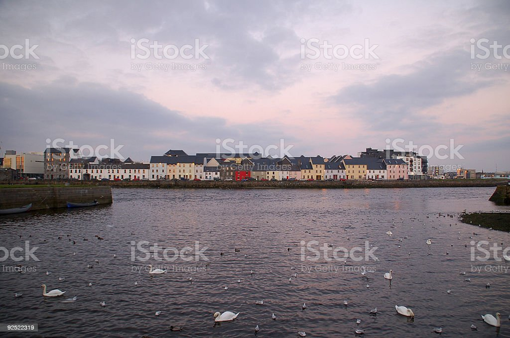 Across Galway Harbour, Ireland royalty-free stock photo