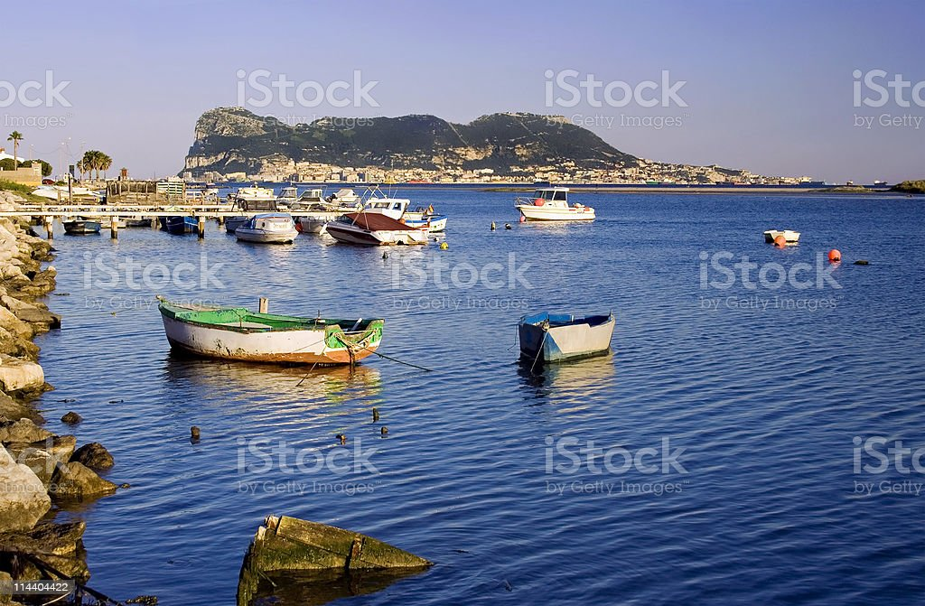 Across the Bay from Gibraltar 2 royalty-free stock photo