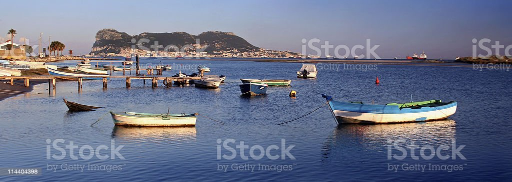 Across the Bay from Gibraltar royalty-free stock photo