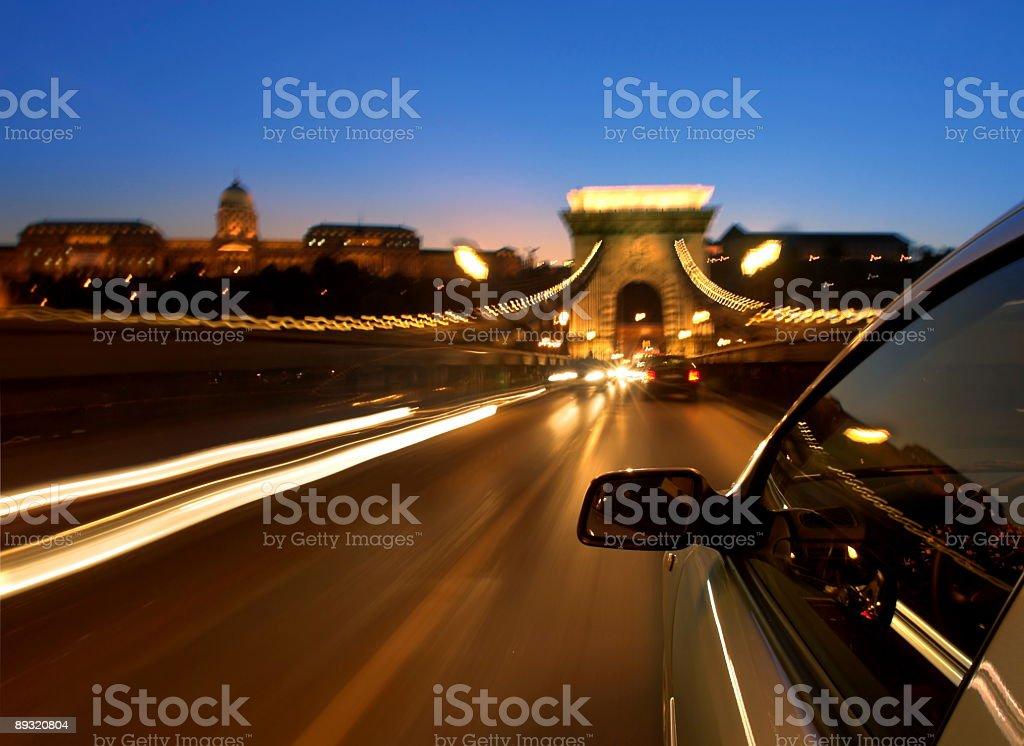 Across the Chain Bridge royalty-free stock photo