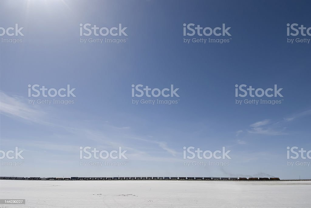 Across the salt flats stock photo