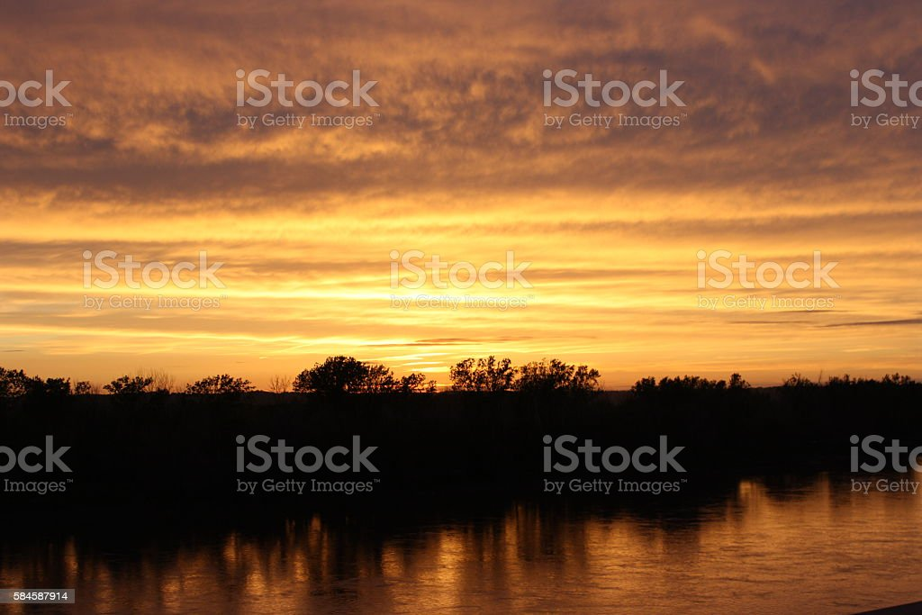 Across the Wide Missouri stock photo