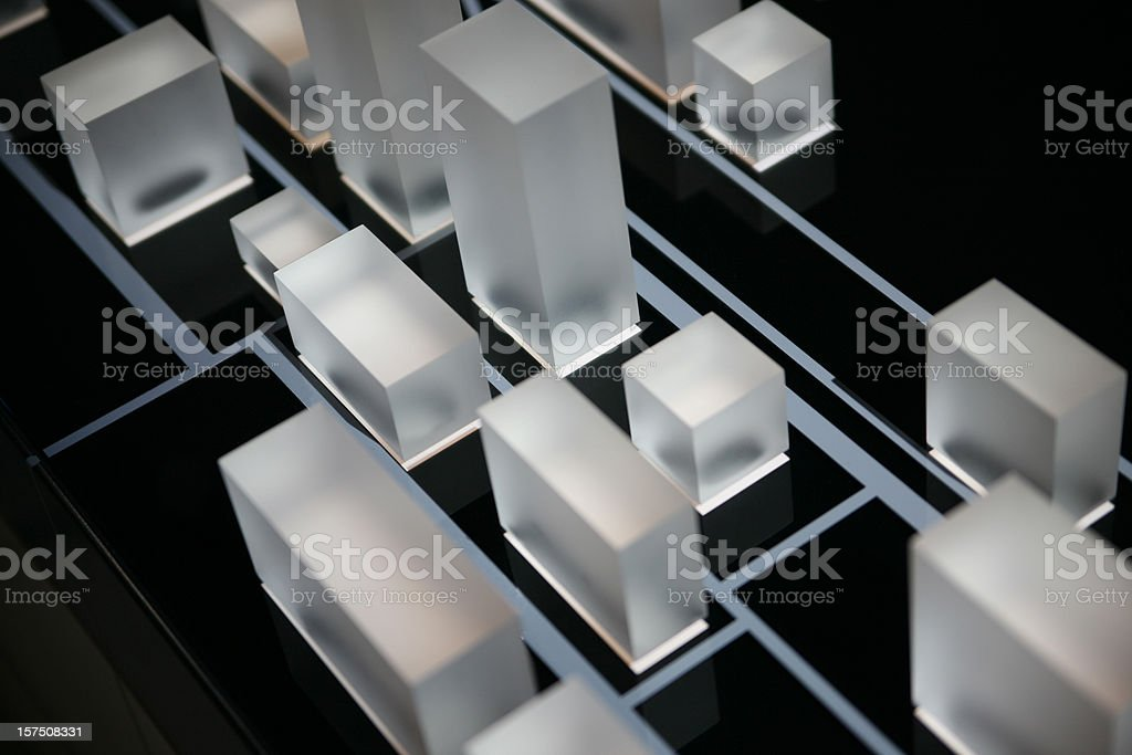Acryl cubes on black royalty-free stock photo