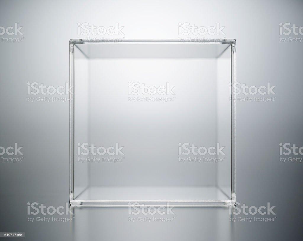 acrylic box abstract. stock photo