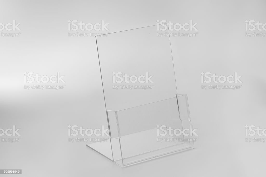 Acrylic card holder for events. stock photo