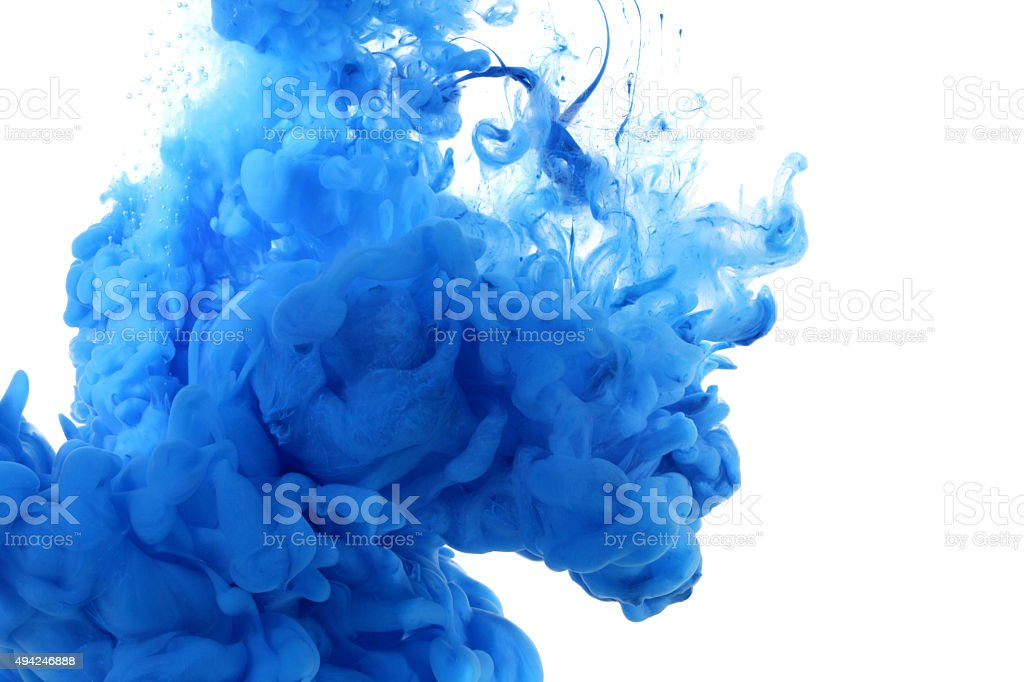Acrylic colors in water. stock photo