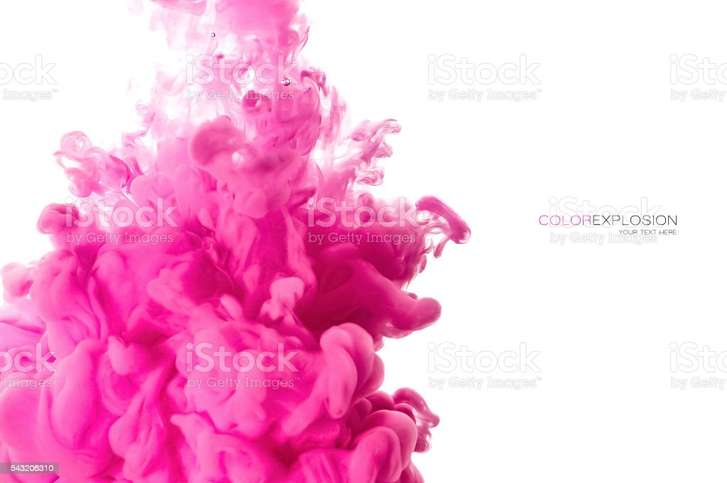 Acrylic Ink in Water. Color Explosion stock photo