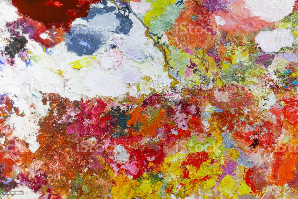 Acrylic Oil paint Color texture. Abstract art Painting background. stock photo
