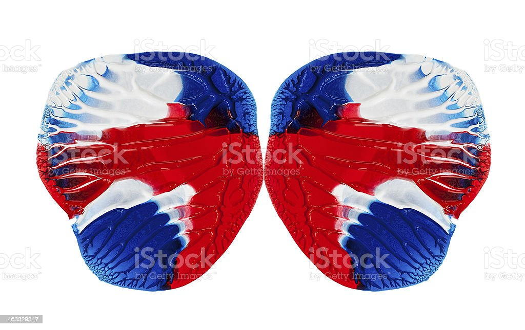 Acrylic Paint-Effect Butterfly Concept stock photo