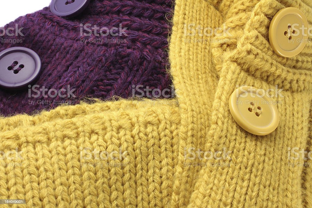 Acrylic Sweaters Cardigan Buttons royalty-free stock photo
