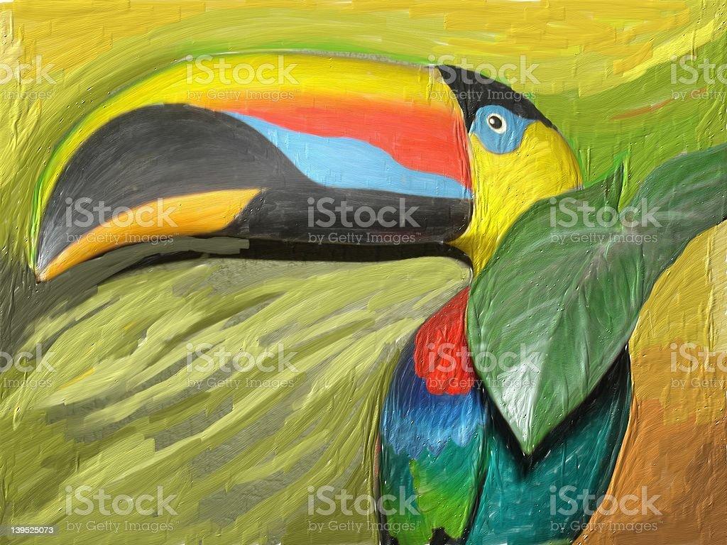 Acrylic Toucan royalty-free stock photo