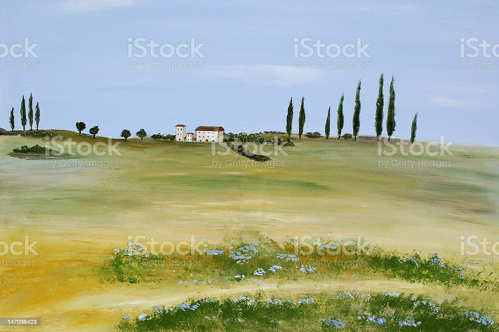 Acrylic Tuscany royalty-free stock photo