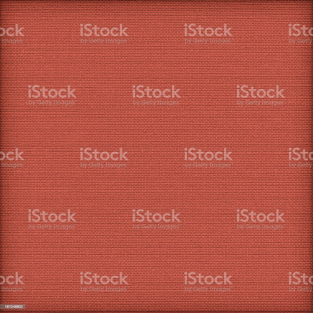 Acrylic-Cotton Vermilion Red Upholstery Vignette Texture Sample royalty-free stock photo