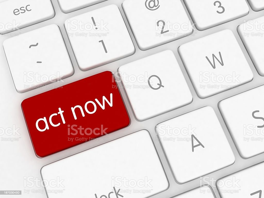 Act Now royalty-free stock photo