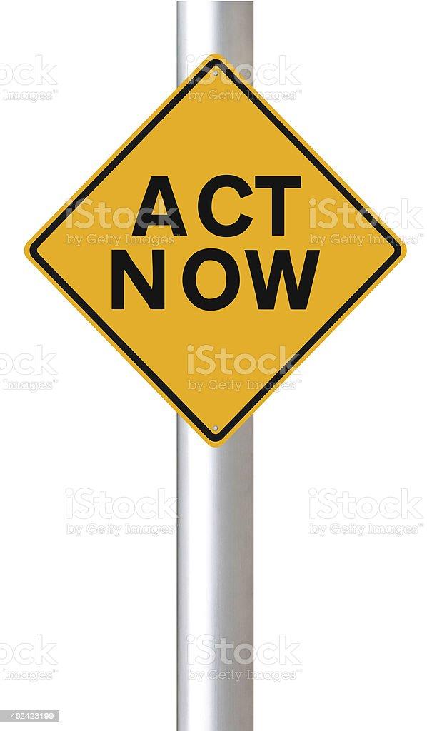 Act Now stock photo