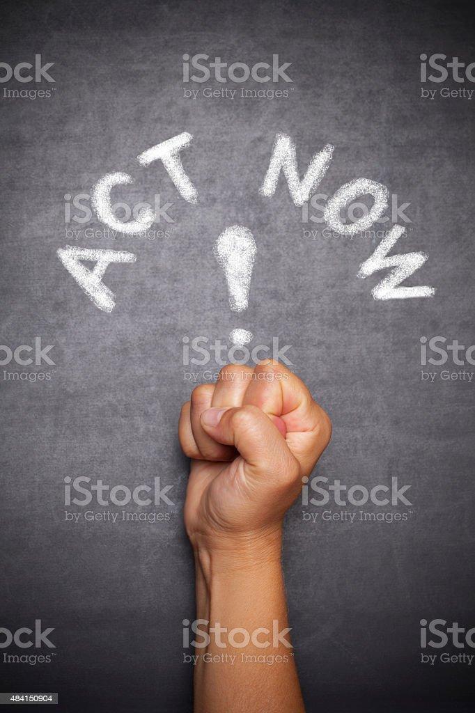 Act now ! stock photo