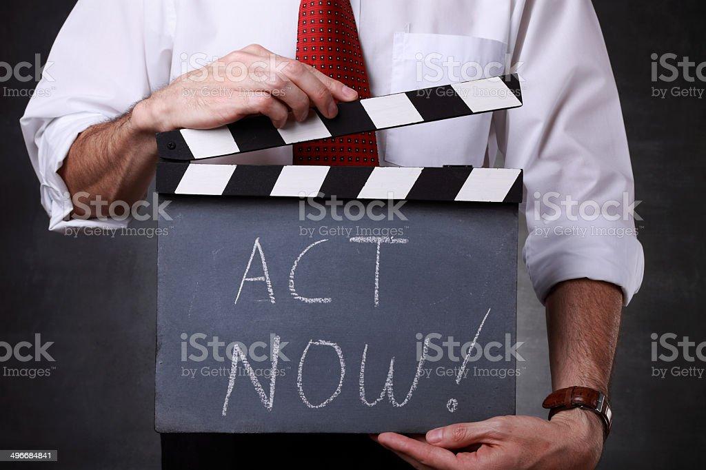 Act Now! stock photo