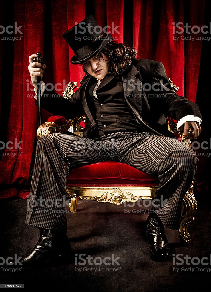 Acting in the Theater royalty-free stock photo