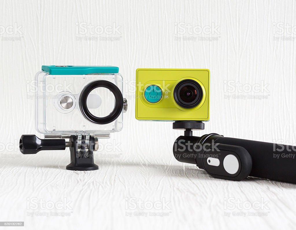action camera stock photo